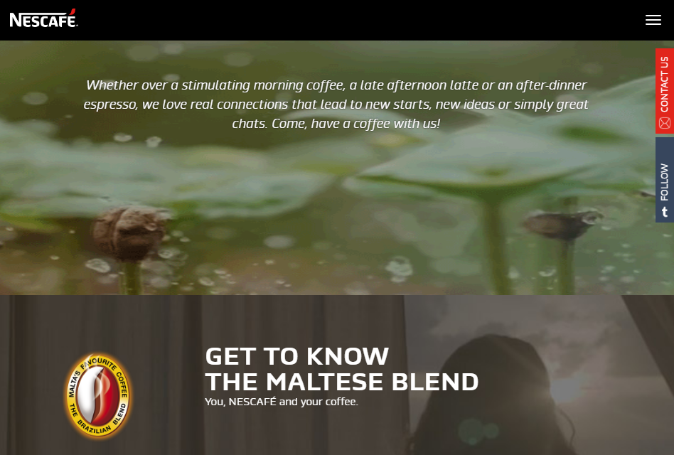 nescafe localised website